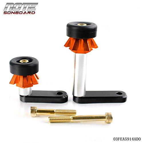 Frame Sliders Crash Pads Protector For Kawasaki ER6N 2009-2013 Orange