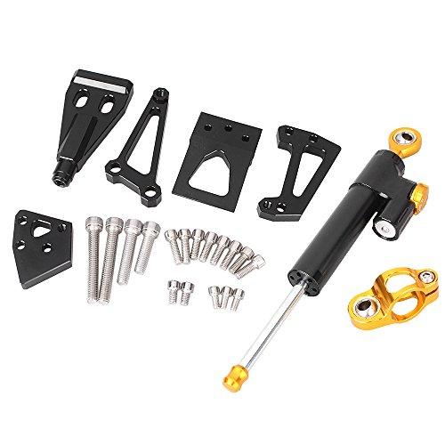 GZYF 1 x Motorcycle CNC Steering Damper Set Bracket Kits For Kawasaki ER6N 2009-2011