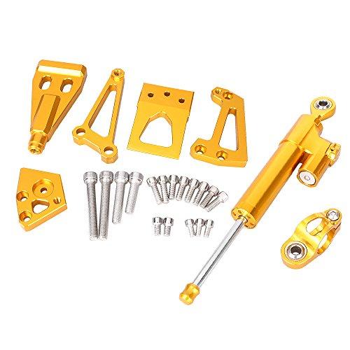 GZYF CNC Aluminum Steering Damper Set Bracket Kits For Kawasaki ER6N 2009-2011 Front