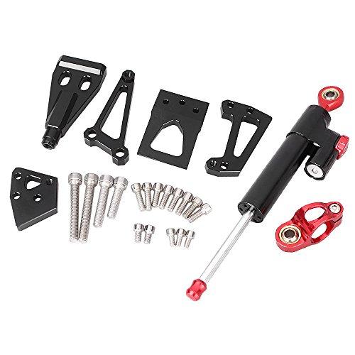 GZYF CNC Motorcycle Top Steering Damper Set Bracket Kits For Kawasaki ER6N 2009-2011