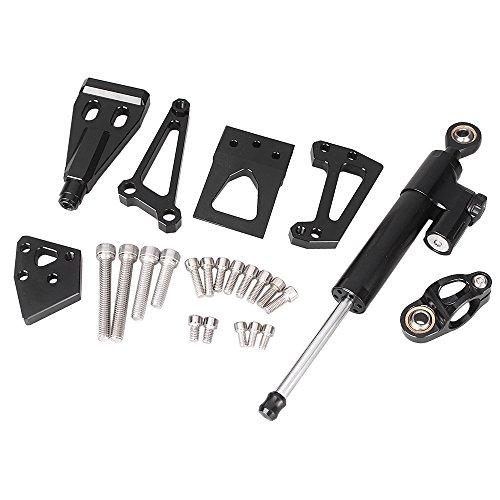 GZYF CNC Steering Damper Set For Kawasaki ER6N 2009-2011 W Bracket Mounting Kits