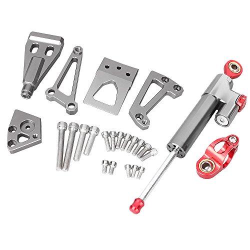 GZYF CNC Steering Damper Stabilizer Bracket Kit for Kawasaki ER6N 2009 2010 2011