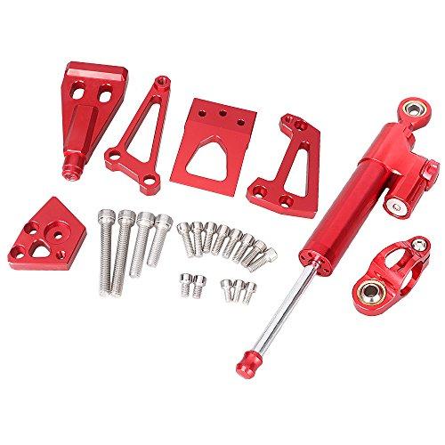 GZYF CNC Steering Damper Stabilizer Mounting Kit for Kawasaki ER6N 2009 2010 2011