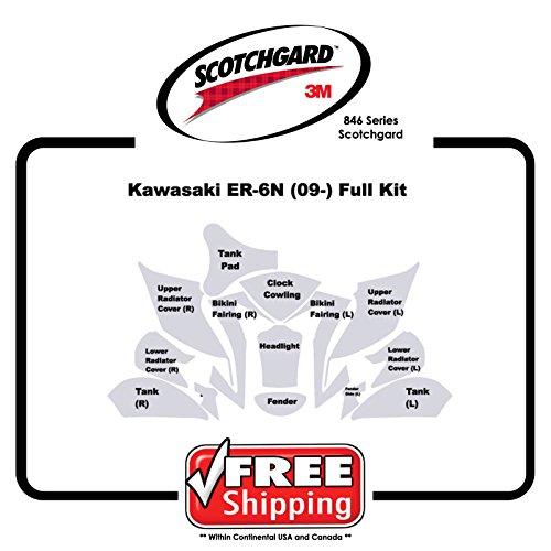 Kit for Kawasaki ER6N 2009-11 - 3M 846 Series Scotchgard Paint Protection