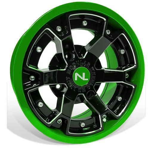 Deuce 2 Piece Modular Wheel 14 x 7 Honda Pioneer 137 mm Kawasaki Lime Green