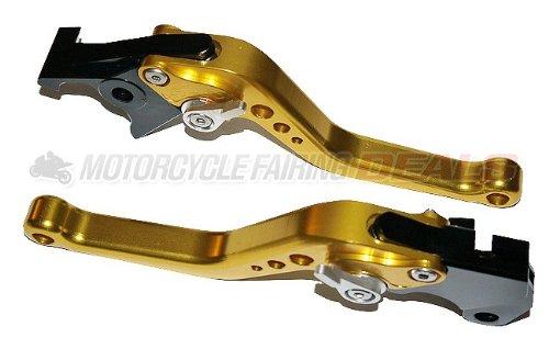 Suzuki GSXR 1000 2001 - 2004 Adjustable Shorty Brake Clutch Lever Gold