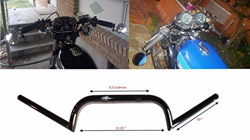 AlphaMoto Black Cafe Racer Ace Clubman Handlebar Bar 78 Cb Gs Xs 650 750 850
