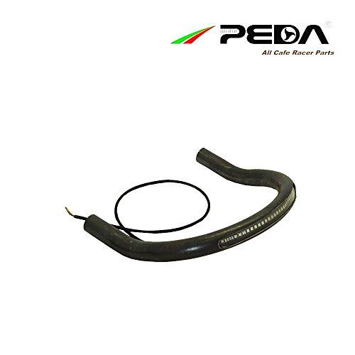 PEDA Cafe Racer Seat Frame Hoop Loop w LED Light Lamp Upswept Kick Up Brat Style Bent Steel Iron For HONDA CG YAMAHA SUZUKI