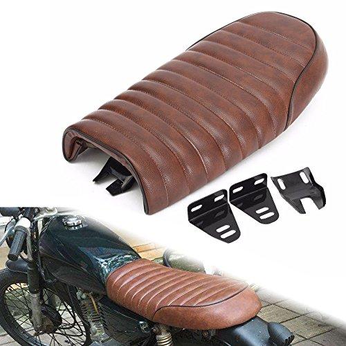 LEAGUE&CO Brown Motorcycle Cafe Racer Saddle Seat Bench Seats for Honda CB1300 CL Retro Yamaha SR XJ Suzuki GS