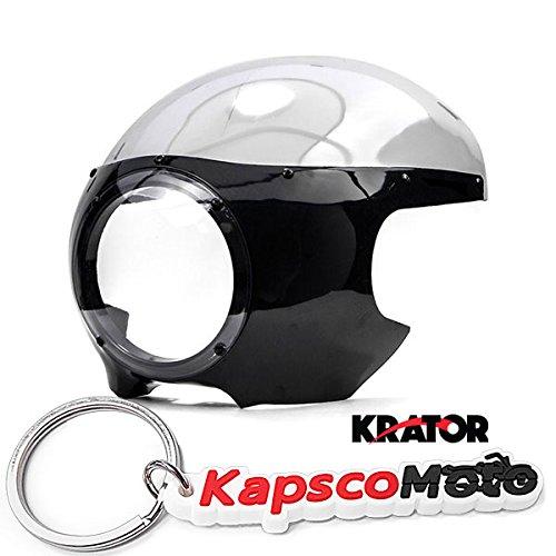 Krator Motorcycle 5-34 Headlight Fairing Screen Black Clear Retro Cafe Racer Drag  KapscoMoto Keychain