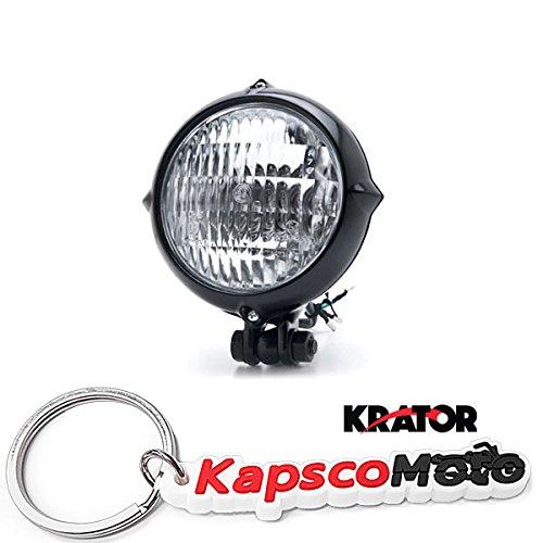 Krator Vintage Style Black Motorcycle Headlight Retro Cafe Racer Bobber Chopper Cruiser  KapscoMoto Keychain