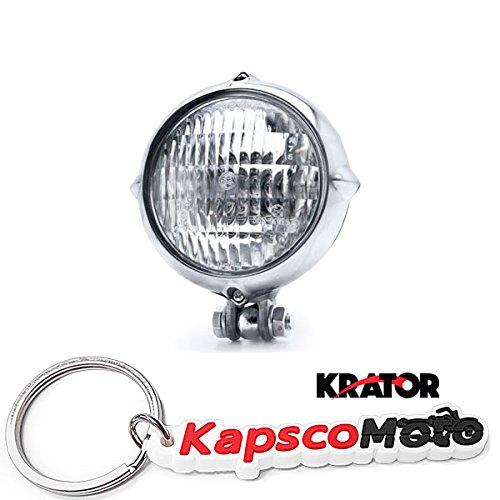 Krator Vintage Style Chrome Motorcycle Headlight Retro Cafe Racer Bobber Bike Cruiser  KapscoMoto Keychain