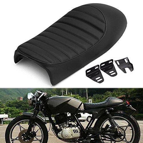 LEAGUE&CO Motorcycle Hump Black Vintage Retro Cafe Racer Saddle Seat Bench Seats for Honda CB Yamaha SR XJ Suzuki GS