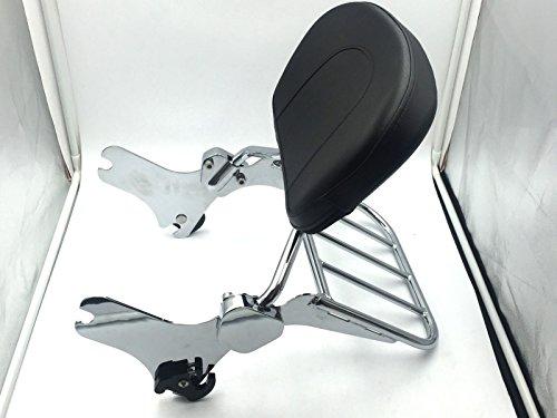 HK MOTO Chromed Backrest Detachable Sissy Bar Luggage Rack Set For Harley Davidson 1997-2008 Road King FLHT FLHX and FLTR  2006-2008 FLHTC