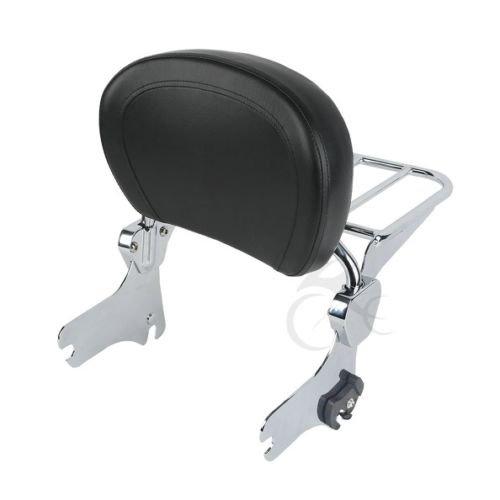 TCMT Detachable Backrest Sissy BarLuggage Rack Set For Harley Road King Street Glide Electra