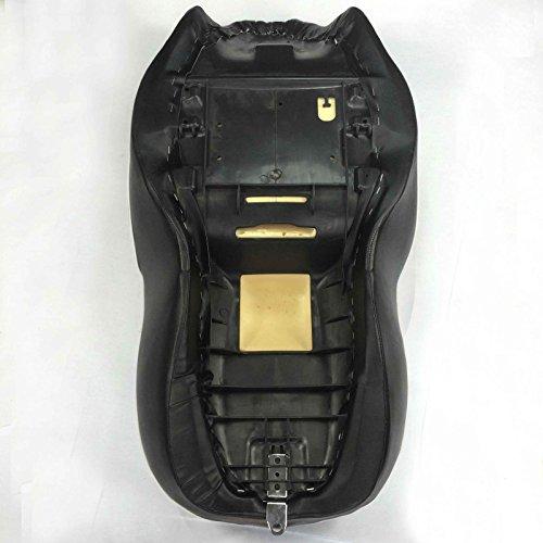HK Motorcycle Black Custom Driver Passenger 2-up Vertical Stripes Style Leather Seat For 2007 2008 2009 2010 2011 2012 2013 2014 2015 Harley Davidson FLHT- Electra Glide Standard