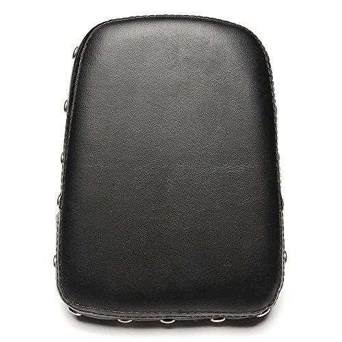 NEVERLAND Rivet Sissy Bar Backrest Cushion Pad for Harley Universal Honda Custom Chopper 2