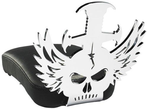 Resurrection Chopper Gear RCGHE20PP Large Mid-Back Headache Design Backrest with Pillion Pad