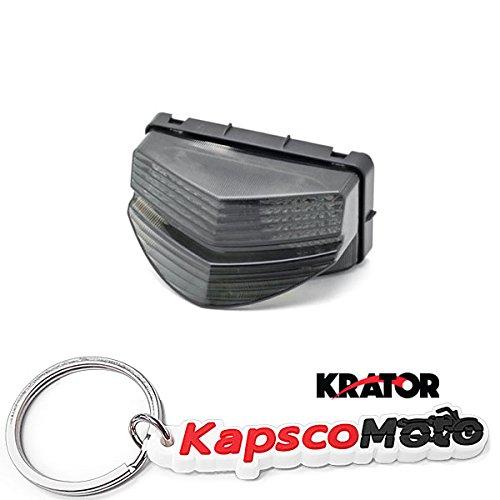 Krator Smoke LED Brake Tail Light with Integrated Turn Signals for 2001-2003 Honda CBR 600 F4i Indicators Smoke Motorcycle  KapscoMoto Keychain