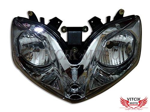 VITCIK Motorcycle Headlight Assembly for Honda CBR600F4i 2001-2007 CBR600 F4i 01 02 03 04 05 06 07 Head Light Lamp Assembly Kit Black