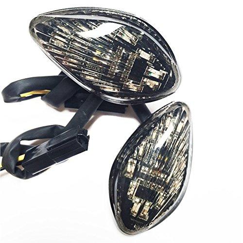 XKH- Smoke Flush Mount LED Turn Signals Light Compatible with Honda CBR 600 F4i 2001 2002 2007 motorcycle B00YB3YA9E
