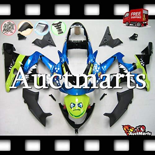 Auctmarts Injection Fairing Kit ABS Plastics Bodywork with FREE Bolt Kit for Honda CBR929RR CBR 929 RR 2000 2001 Blue Green Black Shark PN1i33