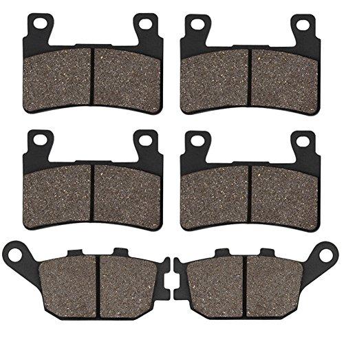 Cyleto Carbon Fiber Carbon Fiber Brake Pads for HONDA CBR900RR CBR 900 RR Fireblade 900 1998-2003 CBR 929 RR 2000-2001 CBR954RR 2002-2003 CBR 600 RR CBR600RR 2003-2004