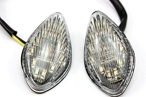LUO Motorcycl Racing LED Amber Turn Signals Blinker Indicators Lens Lights Clear for Honda CB919 CBR600 F3 F4 F4i CBR 1000 RR