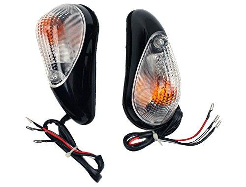 LUO Motorcycl Racing LED Amber Turn Signals Blinker Indicators Lens Lights Clear for Kawasaki Ninja Ex250 Ex 250r 1988-2007 Rear Yamaha YZF R6S 2006-2007