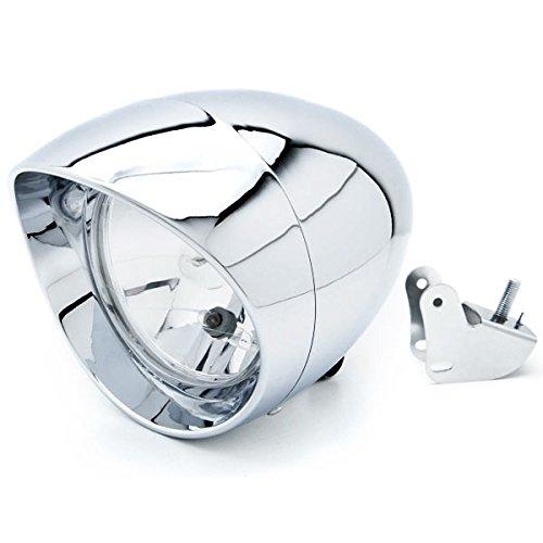 Krator Motorcycle Custom Chrome Headlight Head Light For Victory Vegas 8-Ball Jackpot Ness Premium