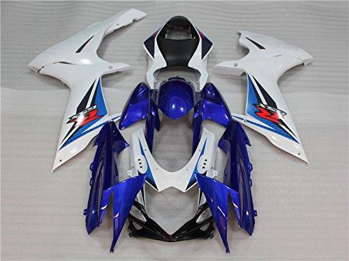 Blue White Black Injection Fairing Body Kit for SUZUKI GSXR600750 2011 2012 2013 2014 2015 2016