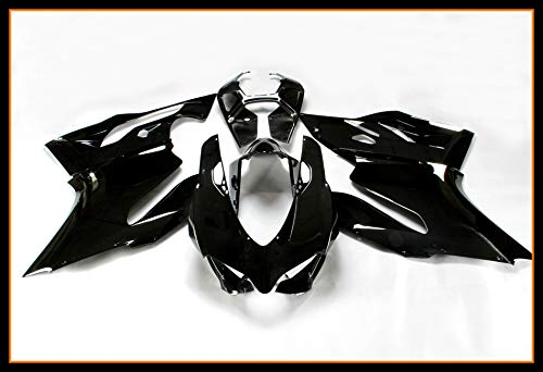Sportfairings Complete Body kits For Ducati 899 1199 2012 2013 New ABS Plastic Gloss Black Sportbike Fairings kit Covers