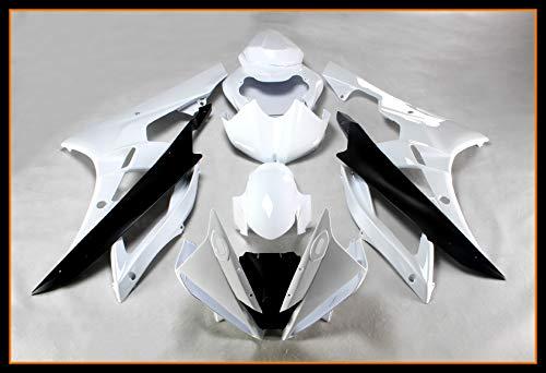 Sportfairings Complete Body kits For Yamaha R6 2006 2007 New ABS Plastic Pearl White Sportbike Fairings kit Covers