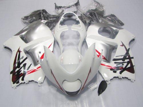 ZXMOT Motorcycle ABS Bodywork fairing kit white UV light Solidfication Painted With Graphic for Suzuki GSX-R 1300 HAYABUSA 1997 1998 1999 2001 2002 2003 2004 2005 2006 2007