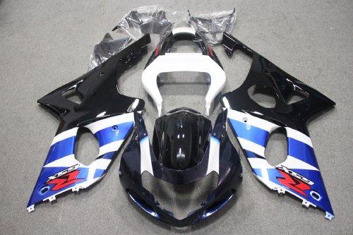 ZXMOTO Black Blue Motorcycle Bodywork fairing kit Painted With sticker for 01 02 Suzuki GSX-R 1000 2001-2002