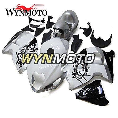 Ceramicszb Motorcycle Body Kit For Suzuki GSX-R1300 GSXR1300 Hayabusa 2011 2012 2013 2008-2016 Gloss White Sliver Sportbike ABS Plastic Injection Body Frames