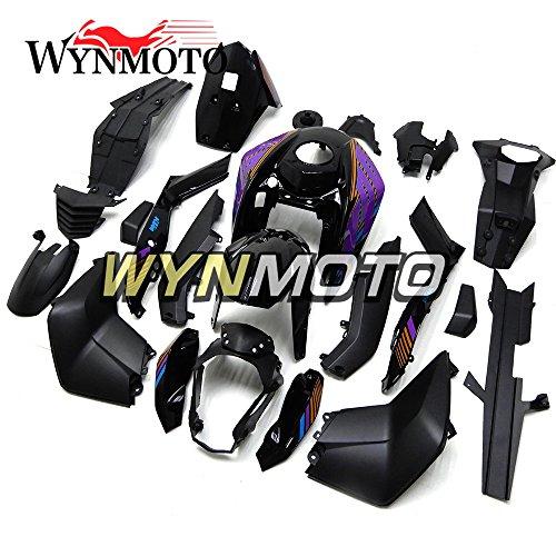 WYNMOTO Matte Black Purple New Motorcycle Body Kit For KTM Duke 125200390 2011 2012 2013 2014 2015 2016 Sportbike ABS Plastic Injection Fairings