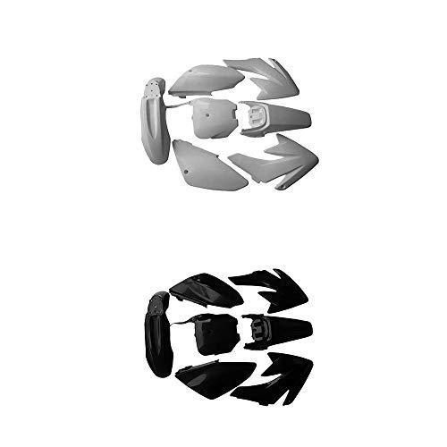 White and Black Plastics Kit Fenders Fairing Body work for Honda CRF70 Motorcycle Dirt Bike