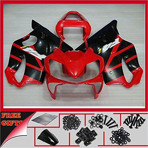 2001 2002 2003 Injection Fairing Fit for Honda CBR 600 F4I Glossy Red Black Bodywork Kit