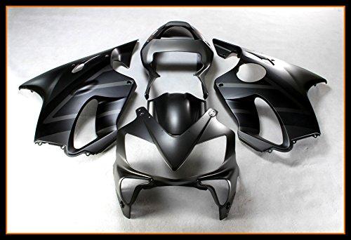 Protek ABS Plastic Injection Mold Full Fairings Set Bodywork With Heat Shield Windscreen for 2001 2002 2003 Honda CBR600 F4i Matte Black Gray