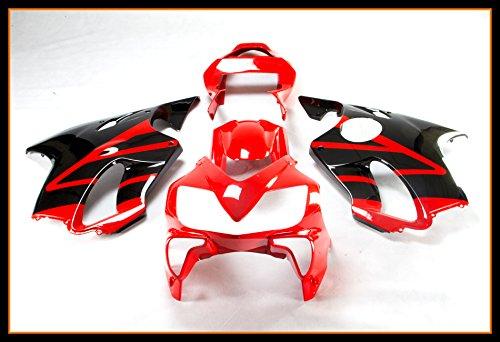 Protek ABS Plastic Injection Mold Full Fairings Set Bodywork With Heat Shield Windscreen for 2001 2002 2003 Honda CBR600 F4i Red Black
