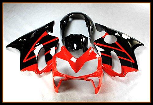 Protek ABS Plastic Injection Mold Full Fairings Set Bodywork With Heat Shield Windscreen for 2004 2005 2006 2007 2008 Honda CBR600 F4i Red Black