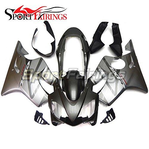 Sportfairings Injection ABS Plastic Full Fairing Kits For Honda CBR600 F4i Year 2004 2005 2006 2007 Silver Grey