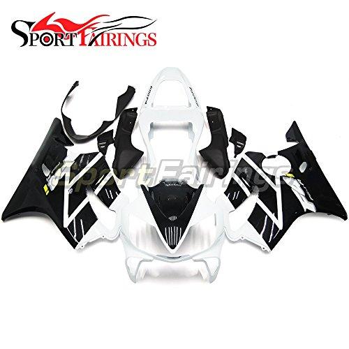 Sportfairings Motorbike Black White Injection ABS Plastic Full Fairing Kit For Honda CBR600 F4i 2001 2002 2003 Sportbike