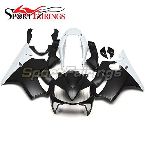 Sportfairings Motorbike Injection ABS Plastic Fairing Kit For Honda CBR600 F4i 2004 2005 2006 2007 Matte Black White Sportbike