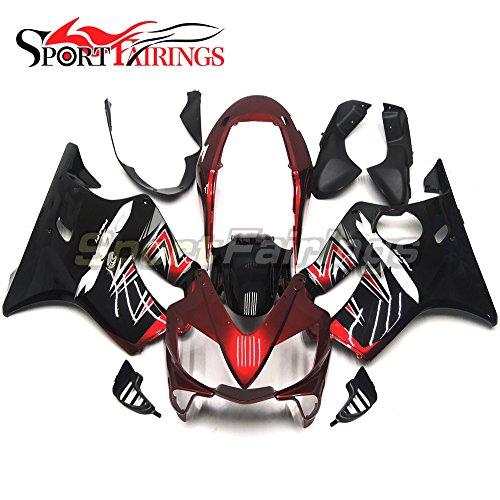 Sportfairings Red Black Injection ABS Plastic Fairing Kit For Honda CBR600 F4i 2004 2005 2006 2007 Sportbike Cowlings
