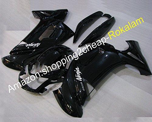 Hot Sales New Design For Kawasaki fairings kit ER-6F Cowling 06 07 08 ER6F 2006 2007 2008 ER 6F Ninja 650 full black bodywork