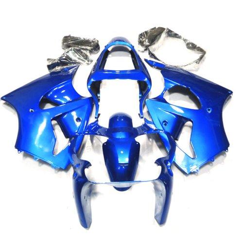 ZXMOTO ABS Plastic Motorcycle bodywork Fairing Kit for 00 - 02 Kawasaki NINJA ZX-6R 600 2000 2001 2002 Blue Pieceskit 11