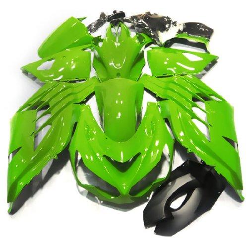 ZXMOTO K1412GRN Motorcycle Bodywork Fairing Kit for 12- 13 Kawasaki NINJA ZX-14R 2012-2013 Green - Pieceskit 25