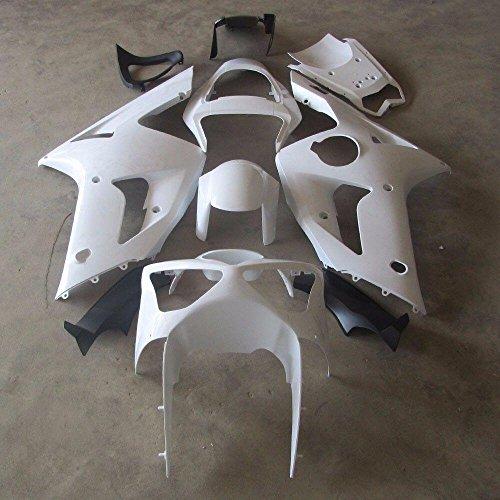 ZXMOTO Unpainted Motorcycle Bodywork Fairing Kit for Kawasaki ZX-6R 2003 2004 Pieceskit 10